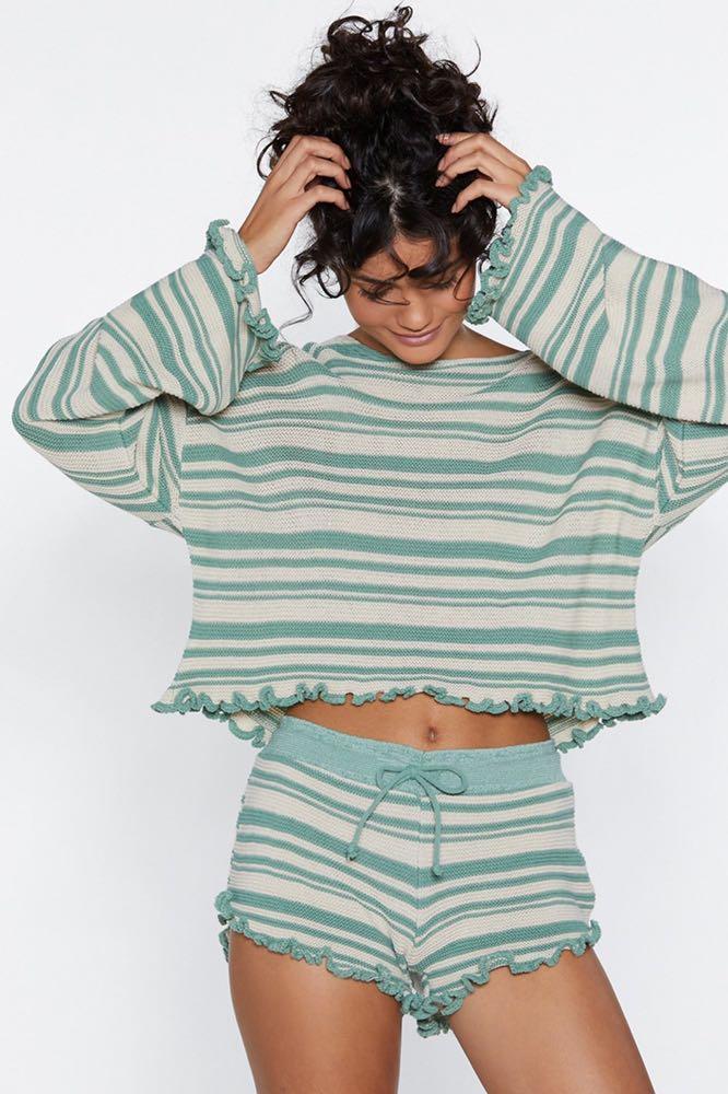 Nasty Gal Jump Into Bed Striped Pj Set