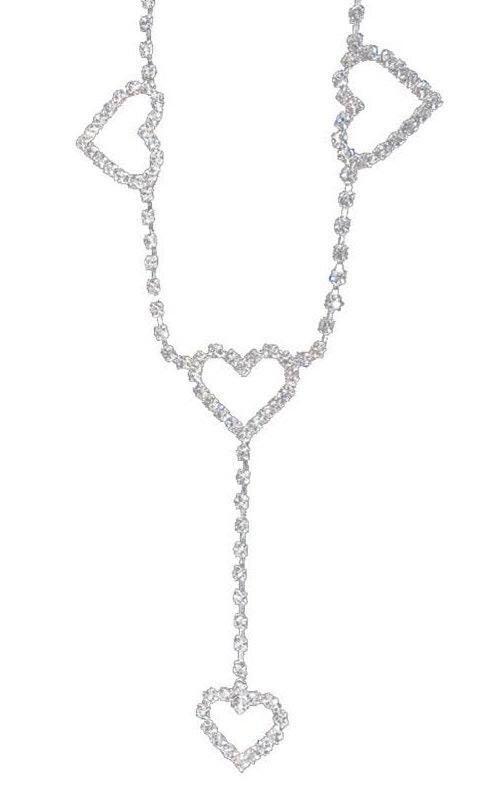 Posh Angel *✧・゚:* Rhinestone Heart Belt Chain ✧*:・゚