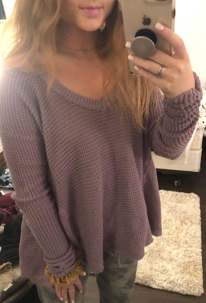 Free People grayish lilac sweater