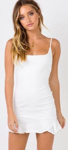Revolve Brand New  White Mini Dress