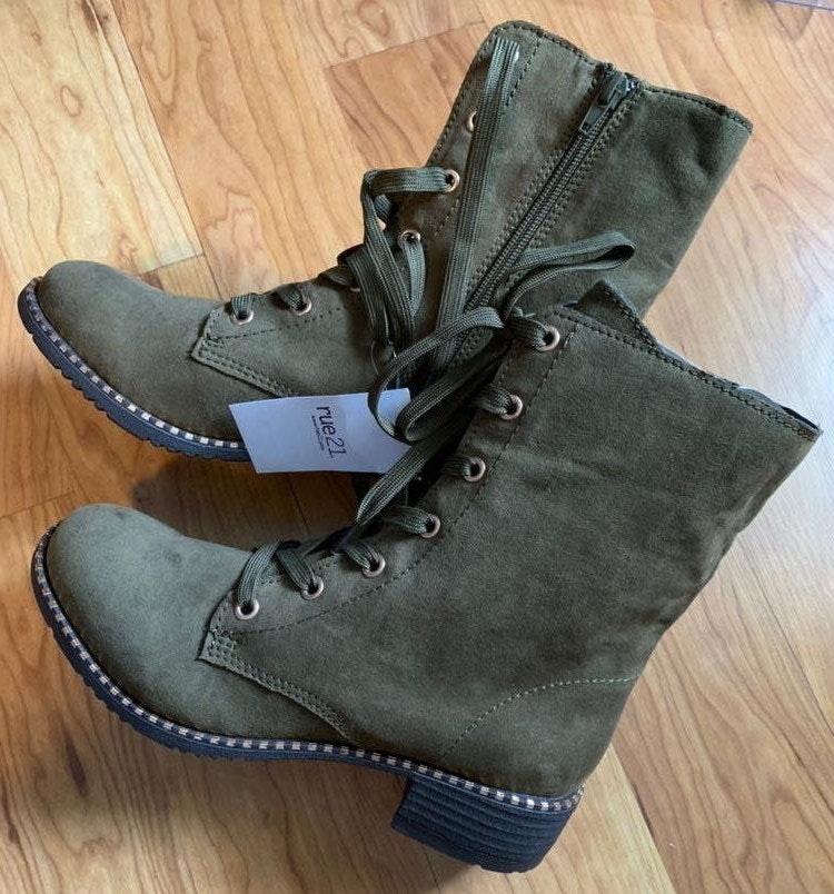 Rue 21 Olive Green Combat Boots
