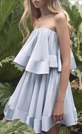Keepsake Blue Tiered Dress