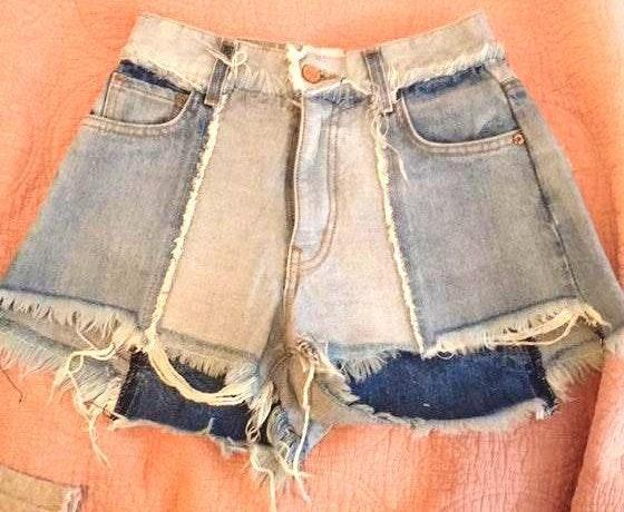 Revice Denim Pair Of Ziggy Shorts Brand New