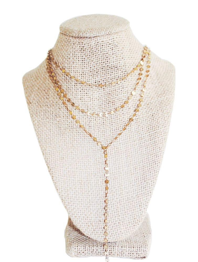 Beaded by Meg Golden Layers Necklace