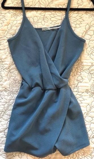 Urban Outfitters Blue Wrap Romper