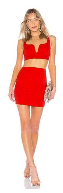 by the way. Red Two Piece Set