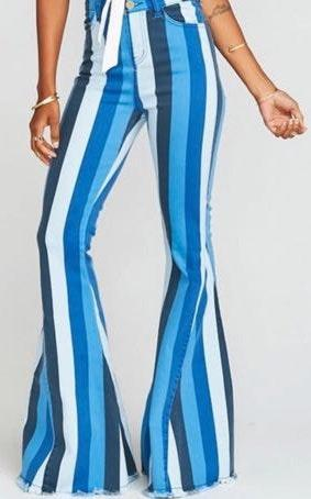 Show Me Your Mumu Striped Bell Bottoms