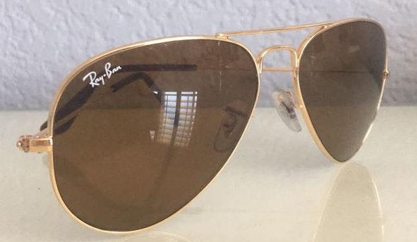 Ray-Ban Brown Aviator Sunglasses