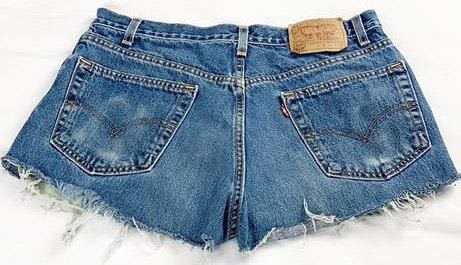Levi's Vintage Super High Waisted  550 Shorts