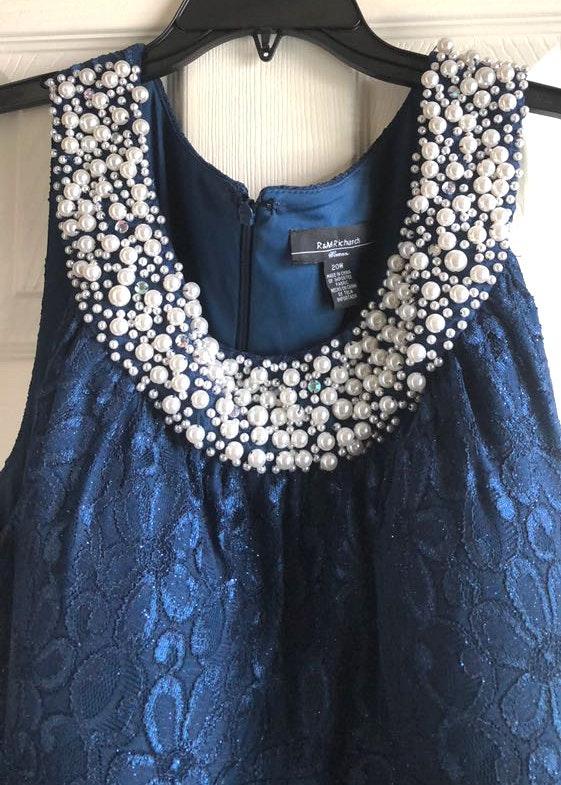 R&M Richards Plus Size 20W Evening Gown