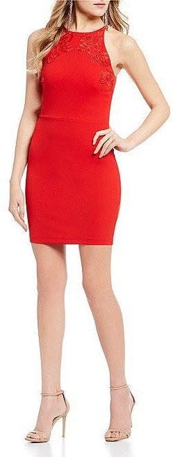 B Darlin Red Fitted Formal Dress