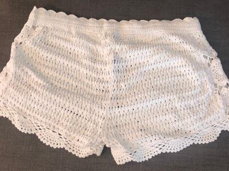 Aerie White Beach Shorts, Lace