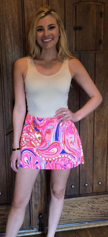 Lilly Pulitzer Bright Pink Summer Skirt With Print