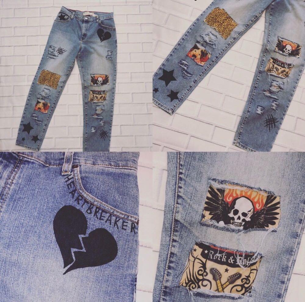 Levi's Distressed Rocker Levi Mom Jeans