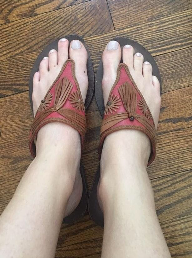 Cole Haan Pink And Brown Sandals