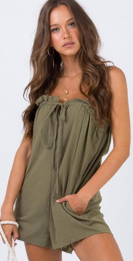 Princess Polly Casual green Romper