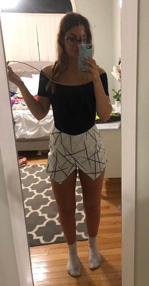 Zaful White skirt