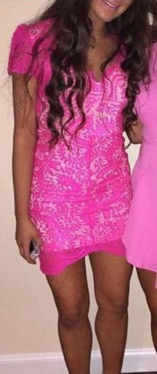 Xenia Pink Lace Dress