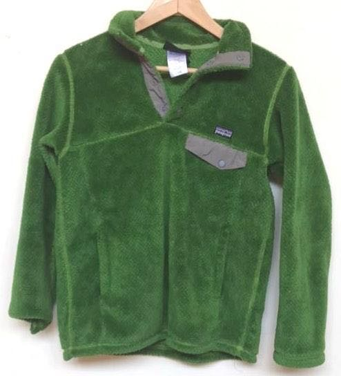 Patagonia Green Half Button Pull Over