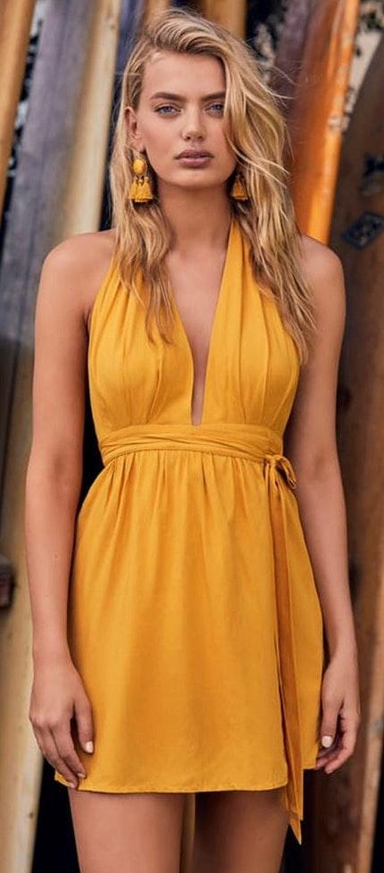 Lulus Positively Perfect Yellow Wrap