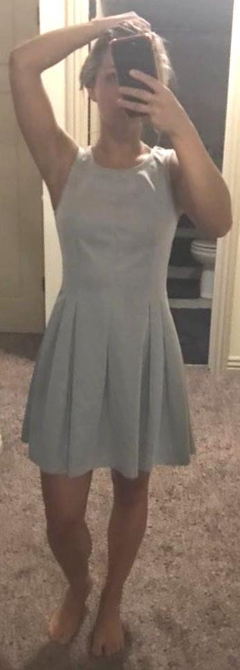 Sugar and L!ps Grey Dress