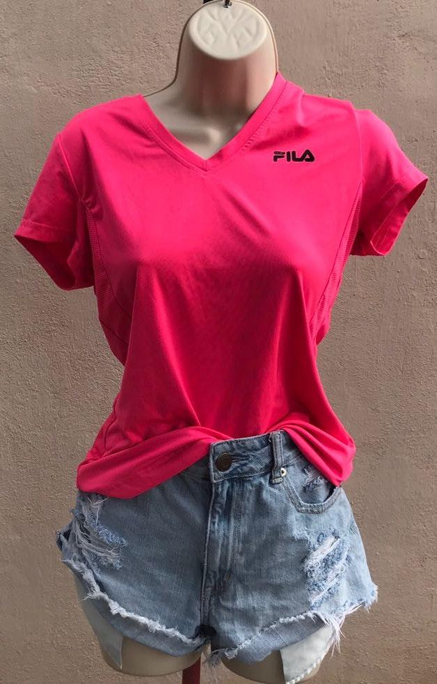 FILA Neon Pink Workout Top