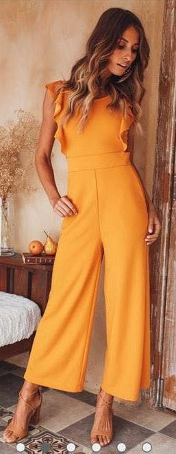Hello Molly I Hope You Dance Mustard Jumpsuit
