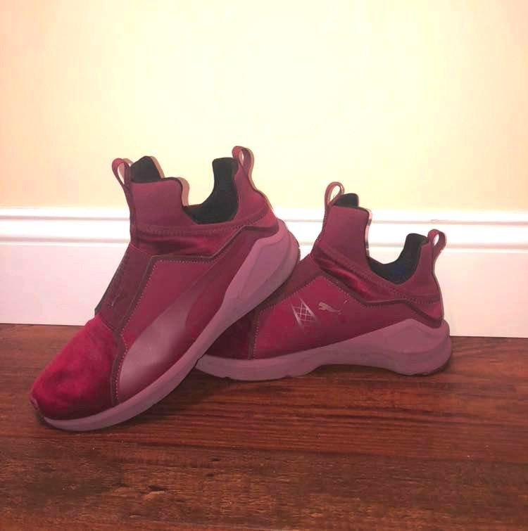 Velvet Burgandy Puma Training Shoe