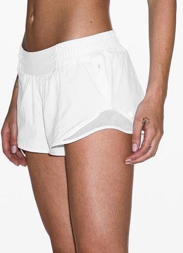 Lululemon White Hotty Hot Short