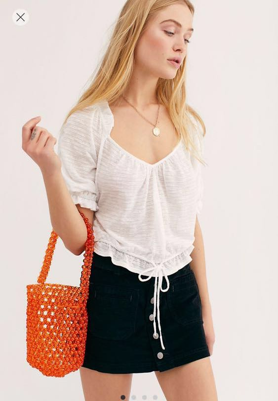 Free People FP White Daytime Top