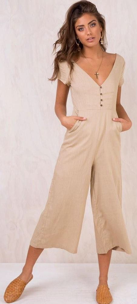 Princess Polly Khaki Jumpsuit