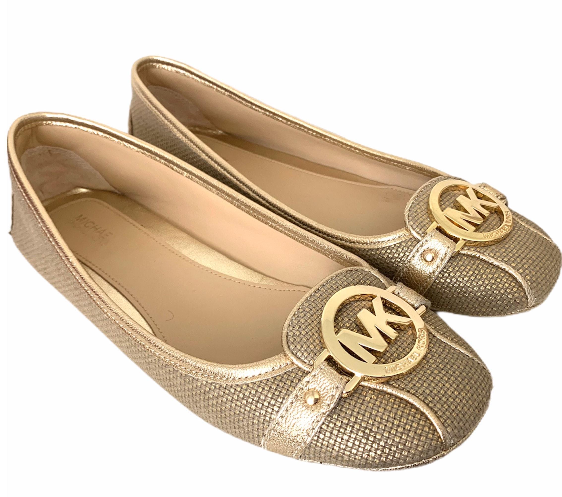 Michael Kors Fulton Gold Leather