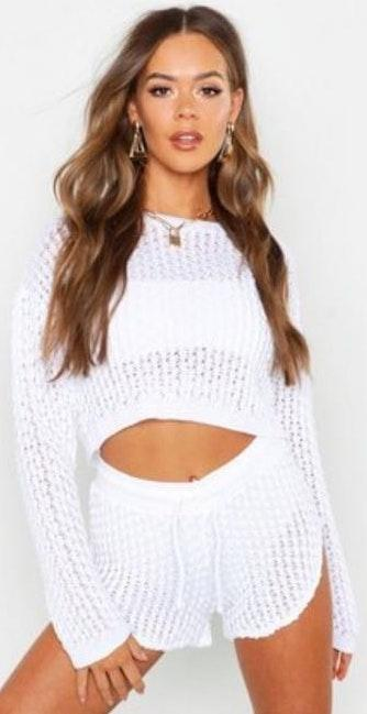 Boohoo Two Piece Swimsuit Cover Up