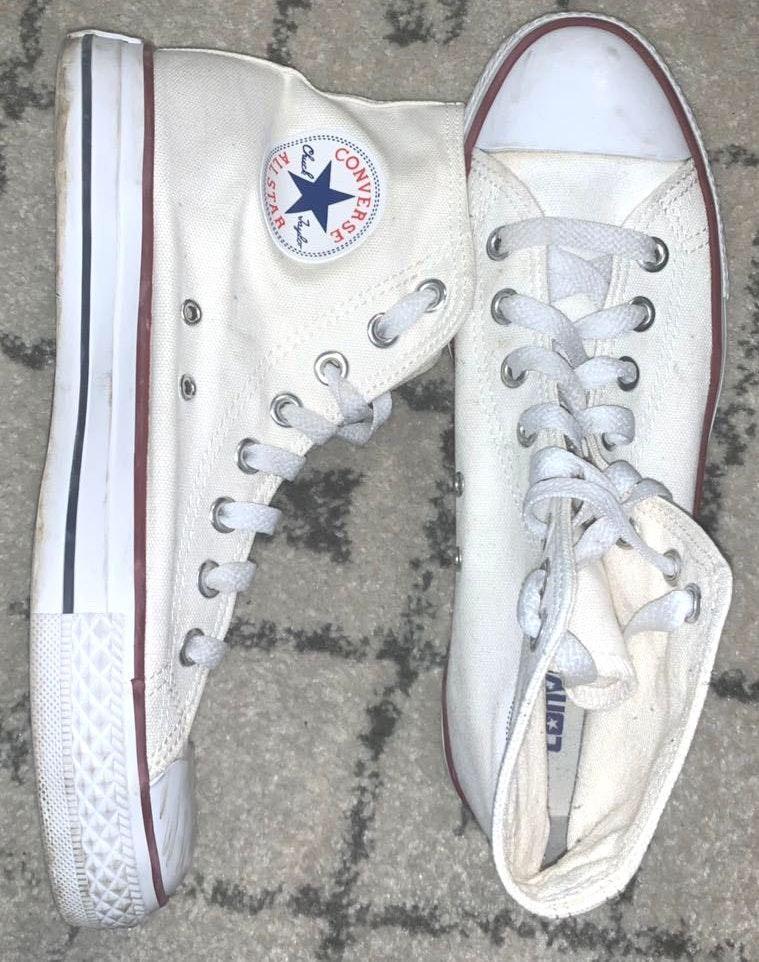 Converse White hightop  Sneakers