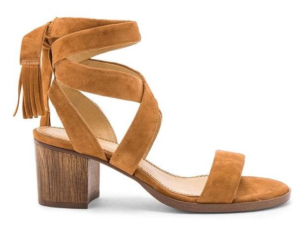 Splendid Revolve  Janet Cognac Block Heel Sandal