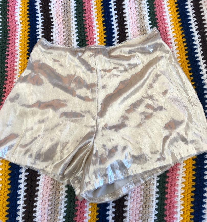 Urban Outfitters Gold Metallic Shorts