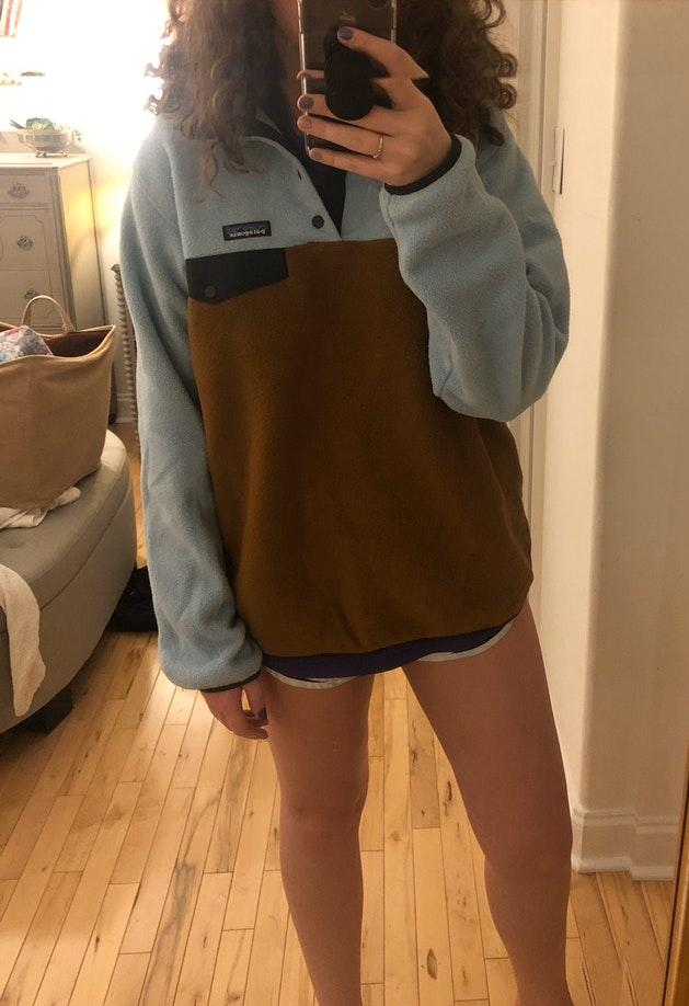 Patagonia pull over snap sweater