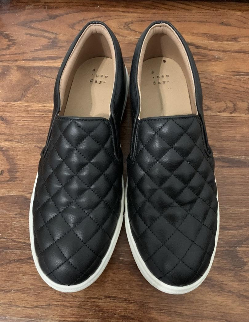 A New Day Black Slip On Sneakers | Curtsy