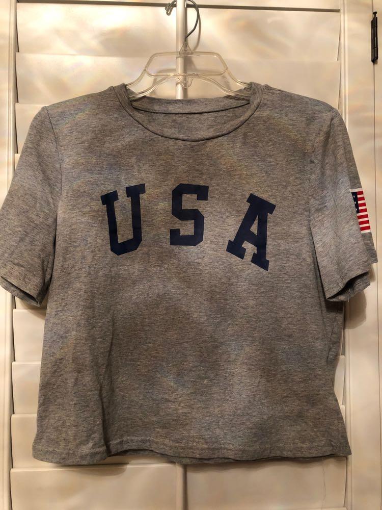 Amazon Cropped USA shirt
