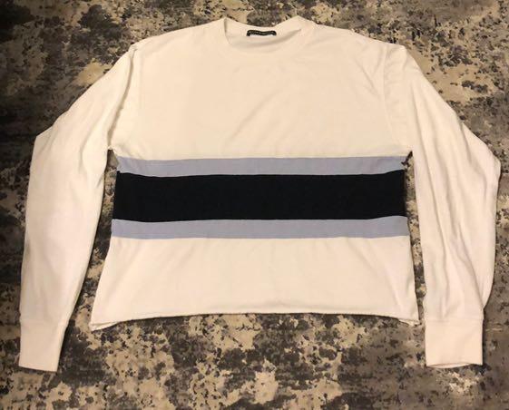 Brandy Melville Blue Stripe Long Sleeve