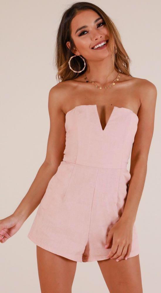 Showpo Blush Pink Romper