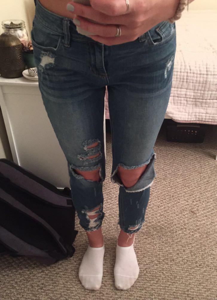 Cello Medium Wash Ripped Jeans