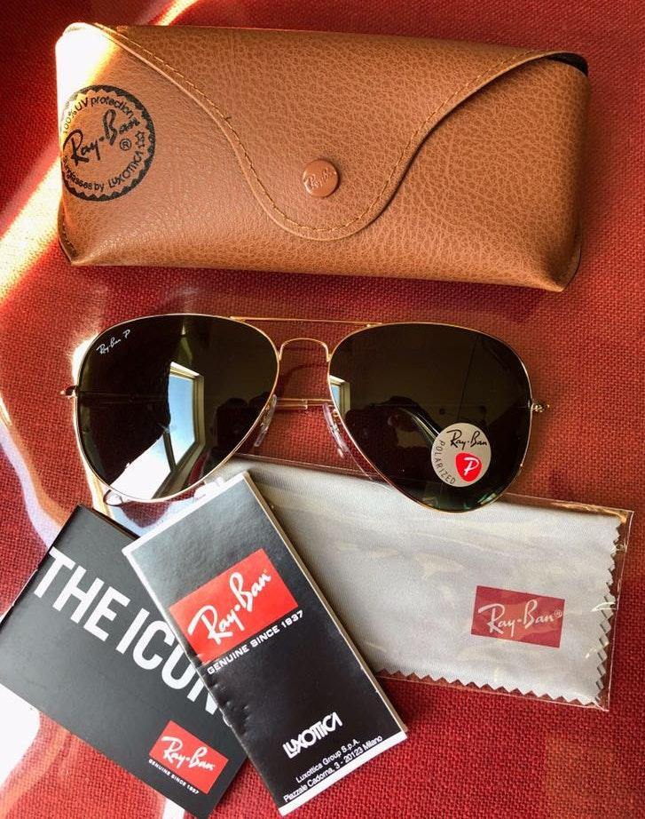 Ray-Ban New rayban Polarized 001/58 size 62mm