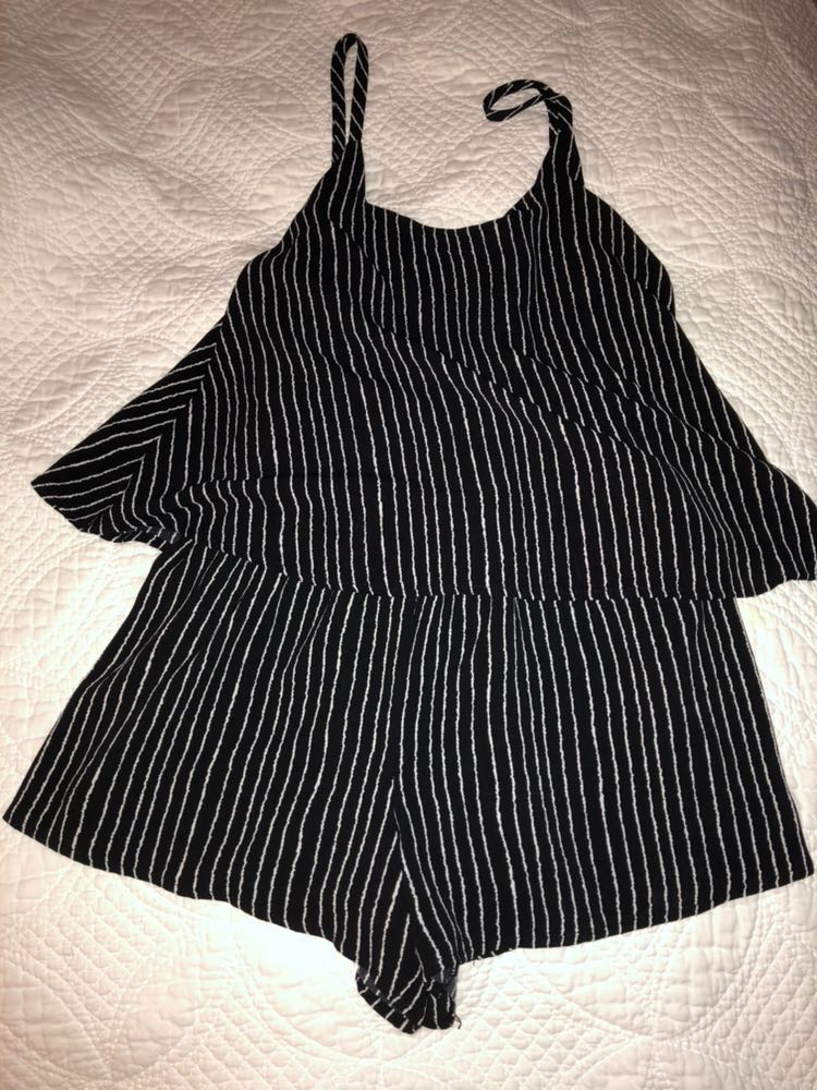 Impeccable Pig Striped Romper