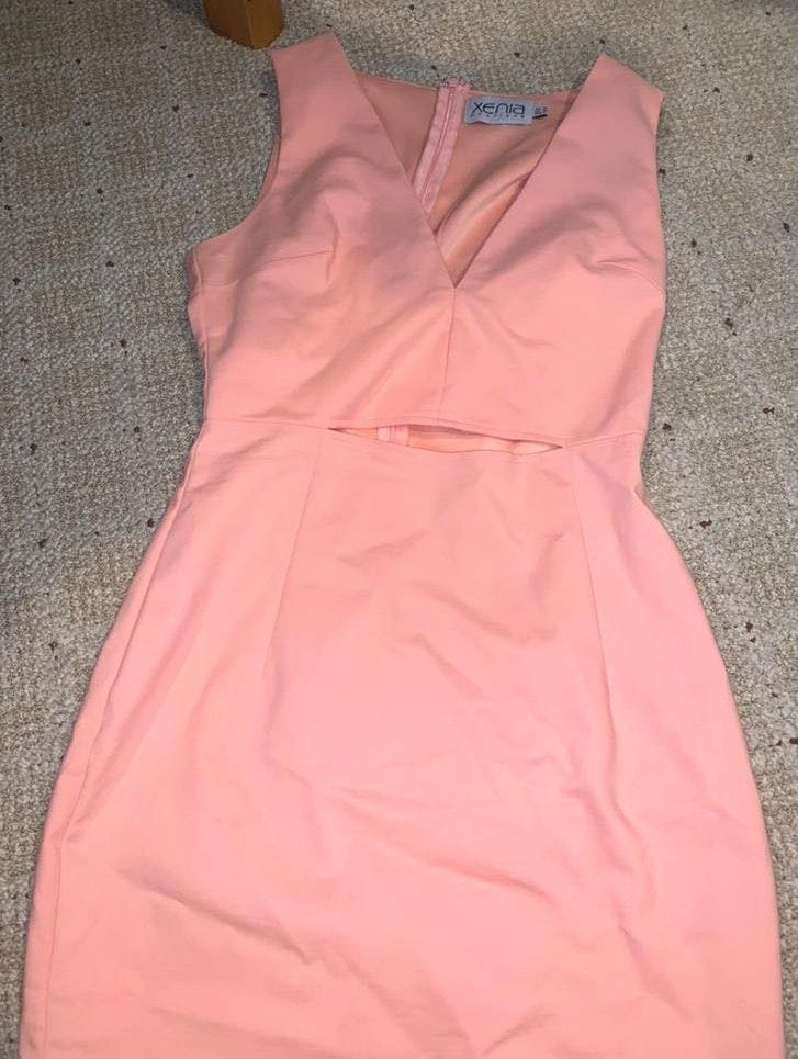Xenia Peach Bodycon dress