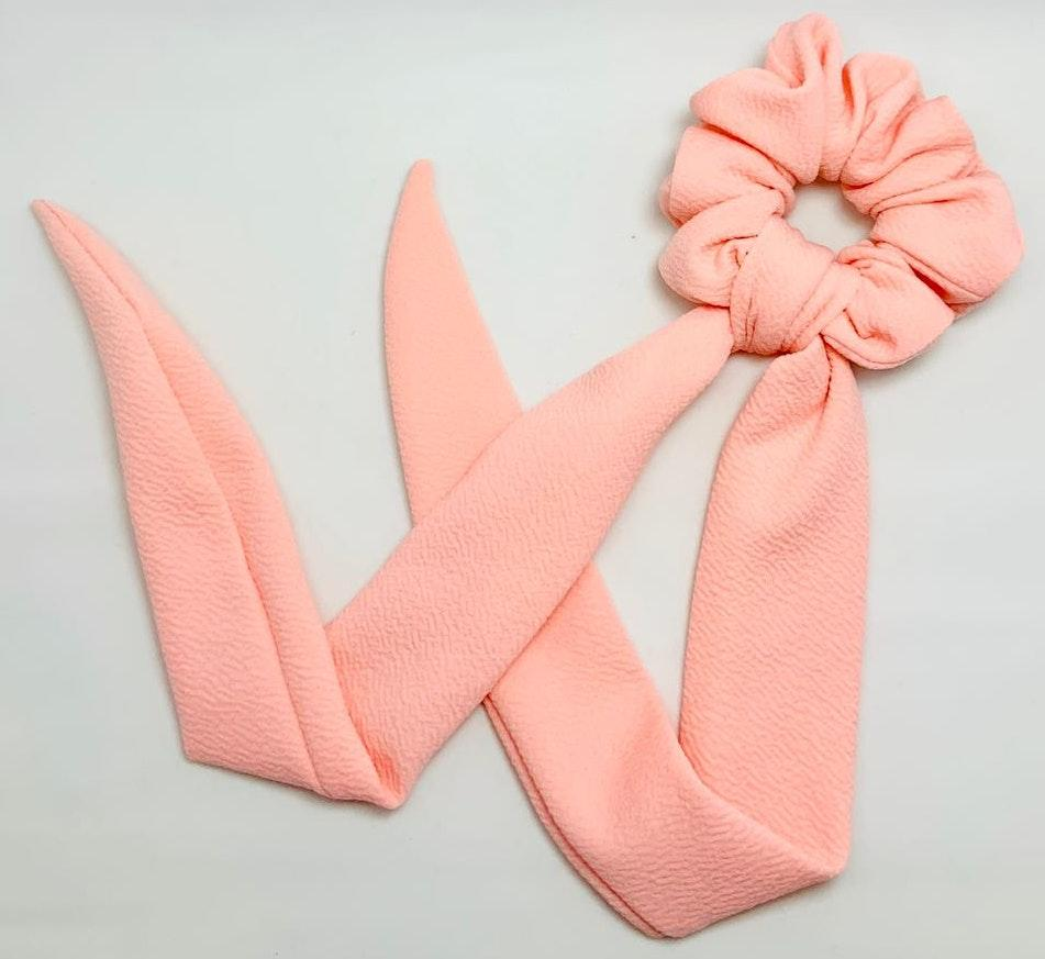 Handmade Pink Scrunch And Scarf