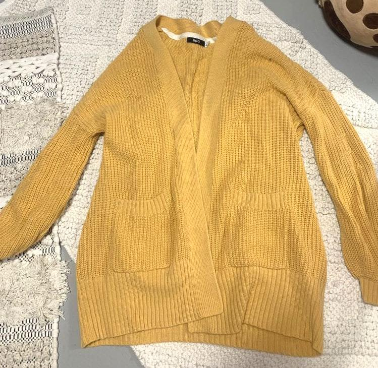 Urban Outfitters mustard cardigan