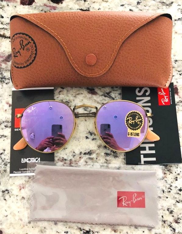 Ray-Ban Rayban Sunglasses Round Metal 167/4k Size 50mm