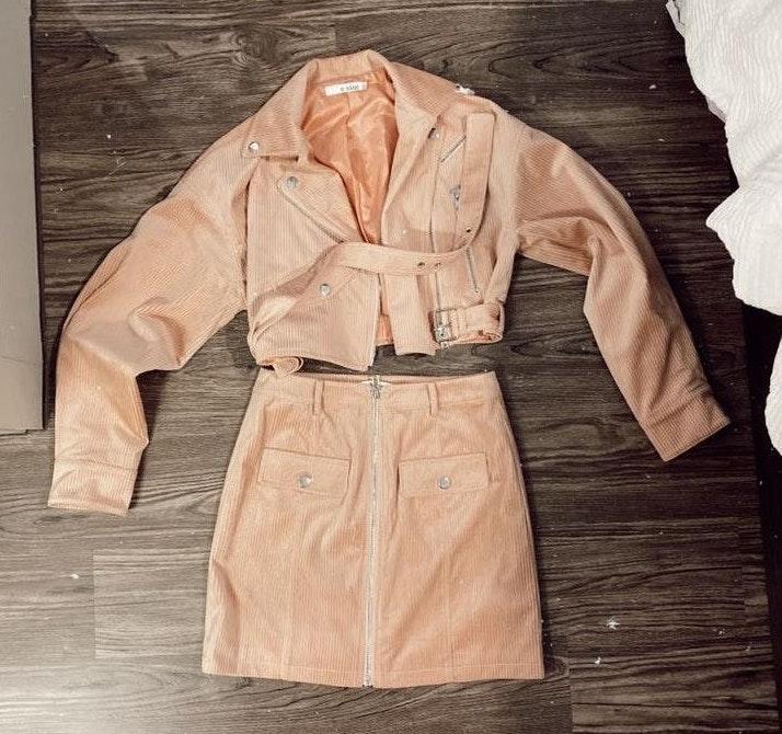 Essue Light Pink Jacket & Skirt set