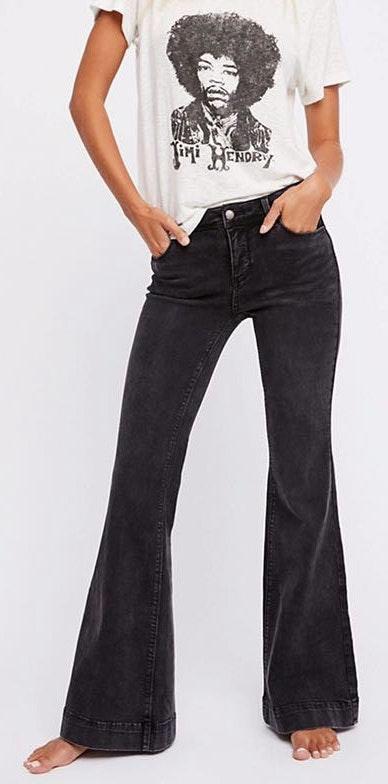 Free People Black Flare Jeans
